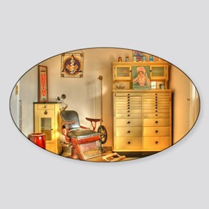 Vintage Dental Office Sticker (Oval)