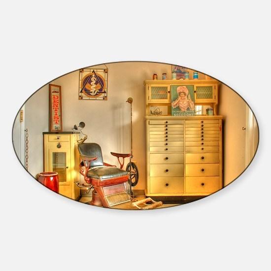 Vintage Dental Office Sticker (Oval)