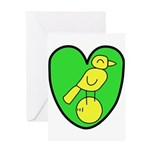 NCFC Canary Heart Greeting Cards