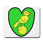 NCFC Canary Heart Mousepad