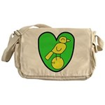 NCFC Canary Heart Messenger Bag