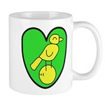 NCFC Canary Heart Mugs