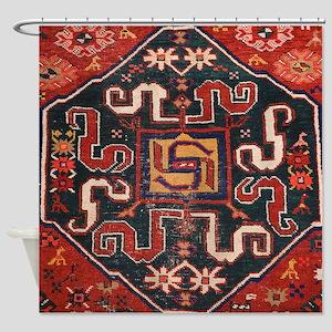 Cloudband Rug Medallion Shower Curtain
