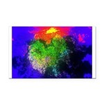 Blooming nebula Rectangle Car Magnet