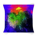 Blooming nebula Woven Throw Pillow
