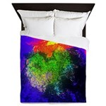 Blooming nebula Queen Duvet