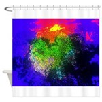 Blooming nebula Shower Curtain