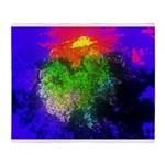 Blooming nebula Throw Blanket