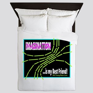 Imagination-Neil Young/t-shirt Queen Duvet