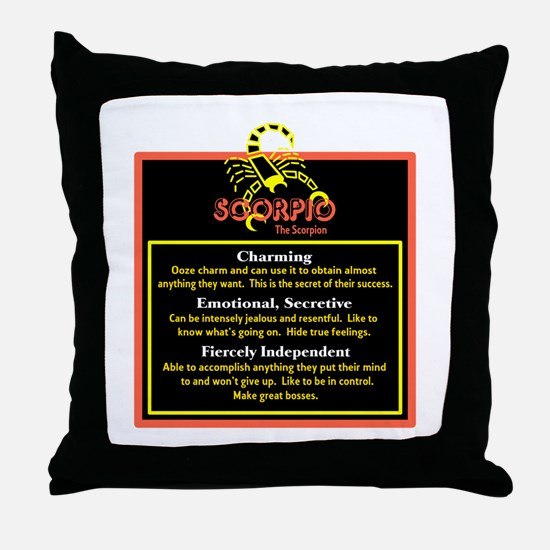 Scorpio-Zodiac Sign Throw Pillow