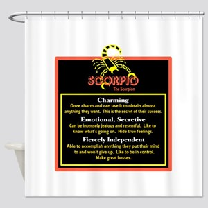 Scorpio-Zodiac Sign Shower Curtain