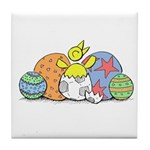 NCFC Canary Happy Easter Tile Coaster