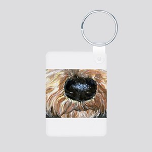 Airedale Terrier Dog Nosey Aluminum Photo Keychain
