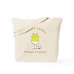 NCFC Born a Canary Always a Canary Tote Bag