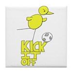 NCFC Canary Kick It Off Tile Coaster