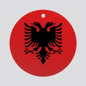 Albania Flag Ornament (Round)
