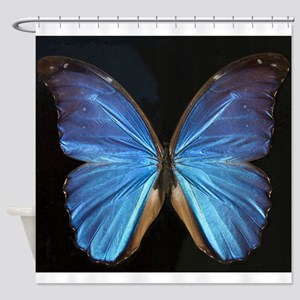 Elegant Blue Butterfly Shower Curtain