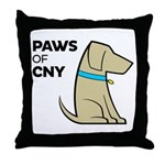 PAWS of CNY Throw Pillow