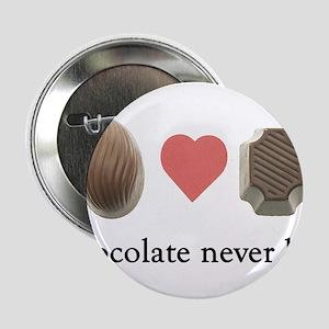 Chocolate Never Lies Button