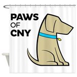 PAWS of CNY Shower Curtain