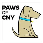 PAWS of CNY Square Car Magnet 3