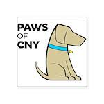 PAWS of CNY Square Sticker 3