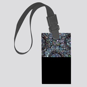 Beaded Sequin Flowers Photo Large Luggage Tag