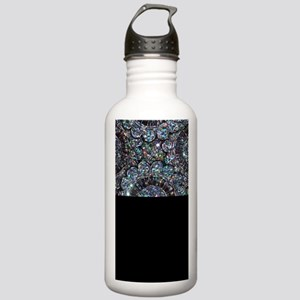 Beaded Sequin Flowers Photo Stainless Water Bottle