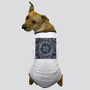 Beaded Sequin Flowers Photo Dog T-Shirt