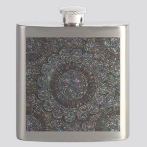 Beaded Sequin Flowers Photo Flask