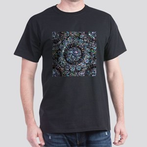 Beaded Sequin Flowers Photo Dark T-Shirt