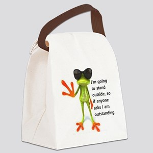 Outstanding Frog Canvas Lunch Bag