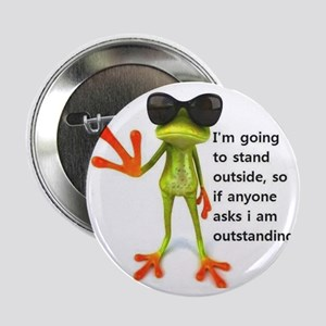 """Outstanding Frog 2.25"""" Button"""