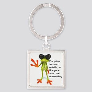 Outstanding Frog Square Keychain
