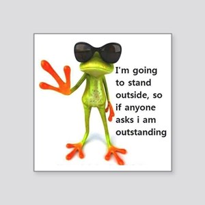 """Outstanding Frog Square Sticker 3"""" x 3"""""""