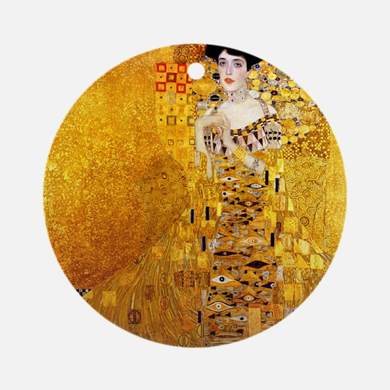 Gustav Klimt Portrait of Adele Bloc Round Ornament