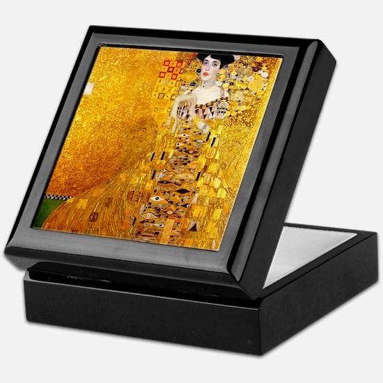 Gustav Klimt Portrait of Adele Bloch- Keepsake Box