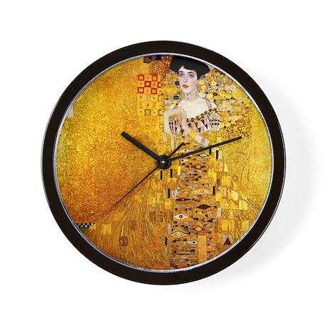Gustav Klimt Portrait Of Adele Bloch Ba Wall Clock