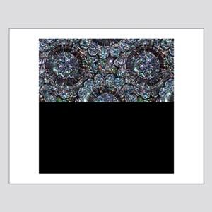 Beaded Sequin Flowers Photo Small Poster