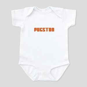 Groovy Orange Pugston Infant Bodysuit