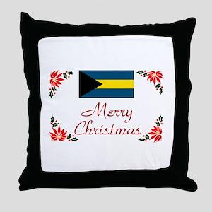 Bahamas-Merry Christmas Throw Pillow