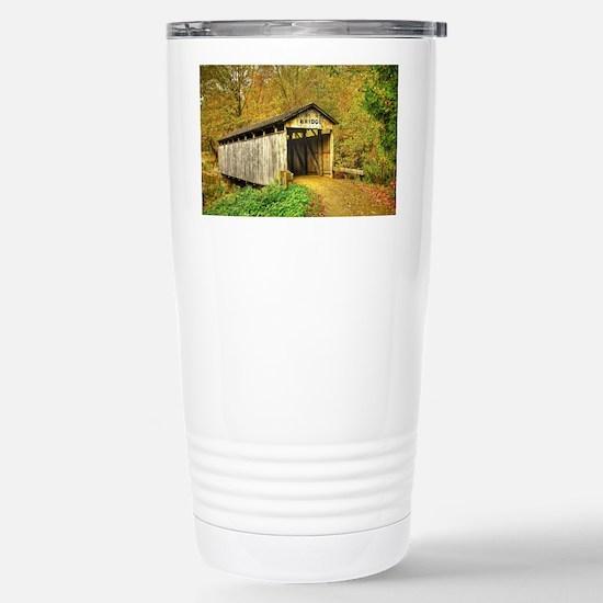 Summer Sunrise Stainless Steel Travel Mug