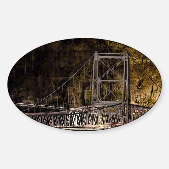 Newell bridge at night Sticker (Oval)