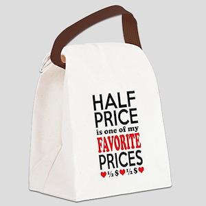 Funny Bargain Hunter Mega Shopper Canvas Lunch Bag