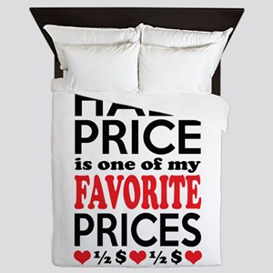 Funny Bargain Hunter Mega Shopper Queen Duvet
