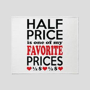Funny Bargain Hunter Mega Shopper Throw Blanket