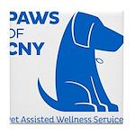 PAWS of CNY, Inc. (Blue) Tile Coaster