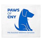 PAWS of CNY, Inc. (Blue) King Duvet