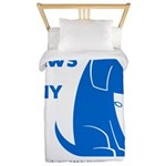 PAWS of CNY, Inc. (Blue) Twin Duvet