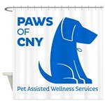 PAWS of CNY, Inc. (Blue) Shower Curtain